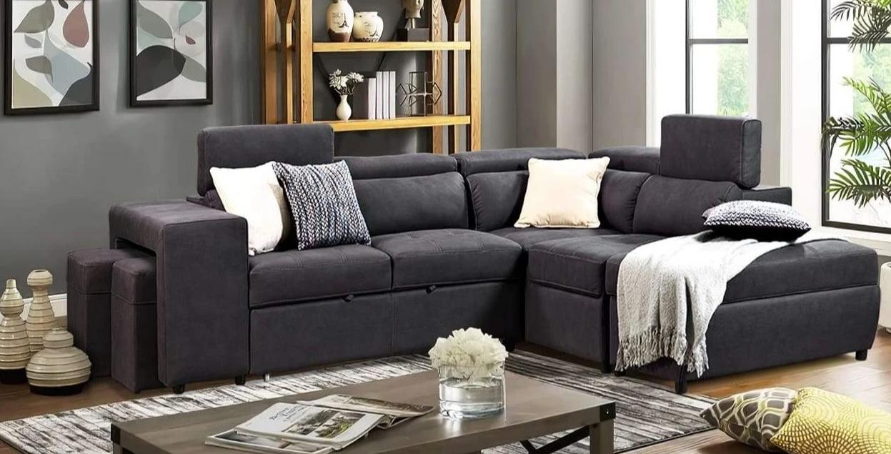 corner lounge sofa bed